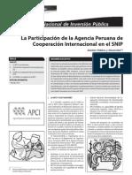 LA PARTICIPACION DE LA AGENCIA PERUANA DE COOPERACIÓN INTERNACIONAL EN EL SNIP