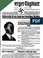 Bregenzer Vorarlberger Tagblatt, 14. März 1938