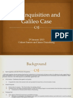 The Inquisition and Galileo