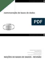 Administração de Bases de Dados