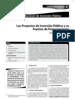 LOS PROYECTOS DE INVERSIÓN PÚBLICA Y SU FUENTES DE FINANCIAMIENTO