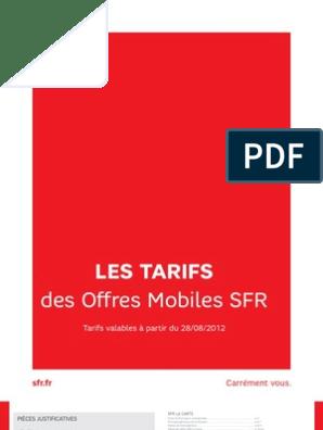 Conditons Generale De Vente Sfrpdf Short Message Service