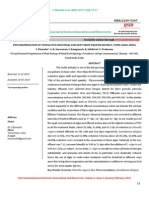 Phycoremediation of Textile Dye Industrial Effluent From Tirupur District, Tamil Nadu, India