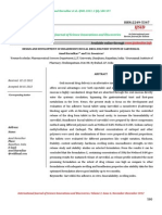 Design and Development of Bioadhesive Buccal Drug Delivery System of Carvedilol