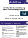 How to Present to Investors