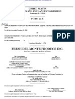 FRESH DEL MONTE PRODUCE INC 10-K (Annual Reports) 2009-02-24