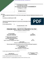 FRESH DEL MONTE PRODUCE INC 10-K (Annual Reports) 2009-02-24