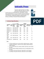C FrameHydraulicPress