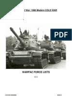 Warpac v2 Lists
