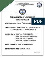 TRABAJO DE ORATORIA Y REDACCIÓN GRUPO NR. 4