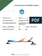 Berkas Rencana Pelaksanaan Pembelajaran Ilmu Statika Dan Tegangan Semester Gasal Dan Genap