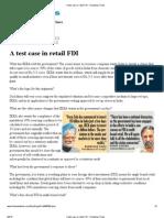 A Test Case in Retail FDI - Hindustan Times