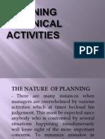 Planning Technical Activities