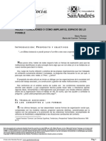 Rovere. Redes y Coaliciones o Como Ampliar El Espacio de Lo Posible