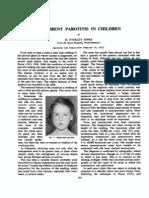 Recurrent Parotitis in Children