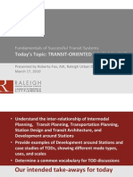 TOD Fundamentals of Successful Transit Systems
