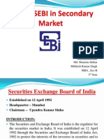 Role of SEBI in Secondary Market