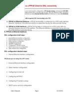 Configure a Cisco Router as a PPPoE Client for DSL Connectivity Using CLI