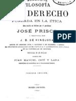 43099011 Prisco Jose Filosofia Del Derecho Fundada en La Etica Parte 1 1891