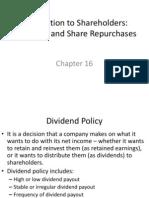Distribution to Shareholders