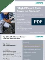 PowerGen Middle East 2012 Doha High-Efficient-Peak-Power-On-Demand Beiler.