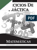 Ejercicios de Práctica PPAA Matemáticas Grado 11 2013