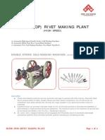 Automatic Blind Rivet Making Plant
