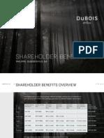 Dubois et Fils Shareholder Benefits