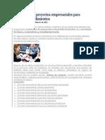 9 Ejemplos de Proyectos Empresariales Para Microemprendimientos