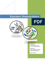 Written Report on Enzymes-nomenclature