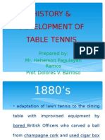 History & Development of Table Tennis