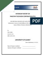 Internship Report on PTV by Amer Sultan