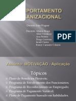Comportamento Organizacional - Motivação Aplicações