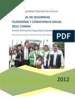 Plan Local de Seg Ciud y Conv Social 2012 Aprobado