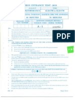 CET 2010 MBA QUESTION PAPER