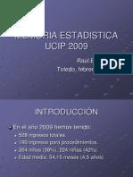Estadística UCIP 2009