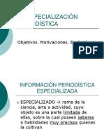 La especialización periodística0