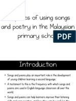 LGA Purposes of Songs and Poetry