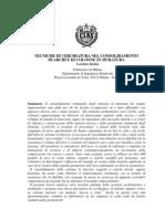 Tecniche Di Cerchiatura Nel Consolidamento Delle Colonne in Muratura