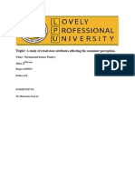 Literature Review on a Study of Retail Store Attributes Affecting the Consumer  Perception
