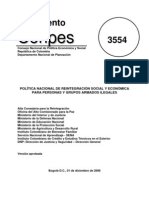 Documento Conpes Reintegracion Número