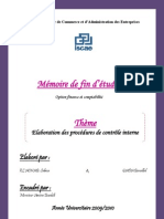 115766657 Elaboration Des Procedures de Controle Interne