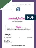 115766657 Elaboration Des Procedures de Controle Interne