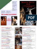 Programa Semana Santa 2013