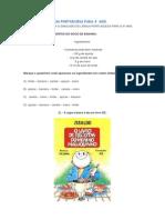 SIMULADO DE LÍNGUA PORTUGUESA PARA 4º ANO