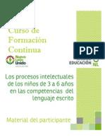 Procesos Intelectuales Lenguaje Escrito Propositos y Contenidos