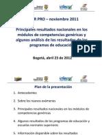 8-Resultados Pruebas Saber Pro 2011