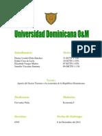 Aporte del Sector Turismo a la economía de la República Dominicana