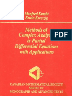 Methods of Complex Analysis in Partial Differential Equations With Applications