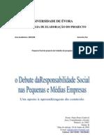 Metodologia do Projecto de Responsabilidade Social